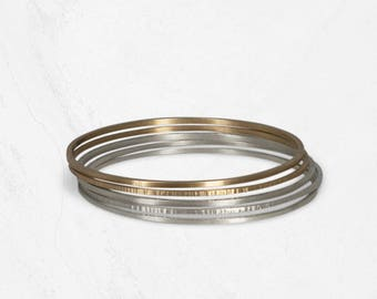 Simple Stacking Bangles | Minimal Gold Bracelet | SOLSTICE Gold Bangles