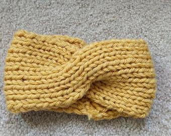 Yellow twist headband