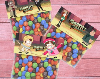 80% OFF SALE Gravity Falls Bag Toppers, Gravity Falls Goodie Bags, Gravity Falls Treat Bags, Gravity Falls Party, Bag Toppers