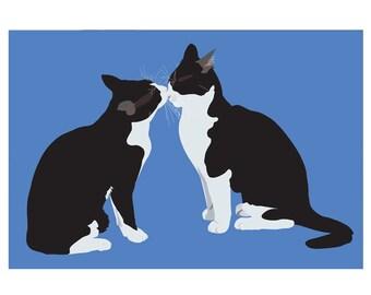 Cute cats name is Ichiro and Hanako