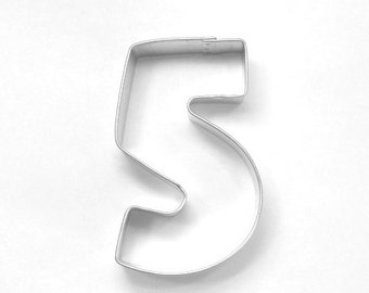 Number 5 Metal Cookie Cutter Birthday
