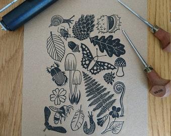 Bois plancher - Original - lithographiée - fait main - édition limitée