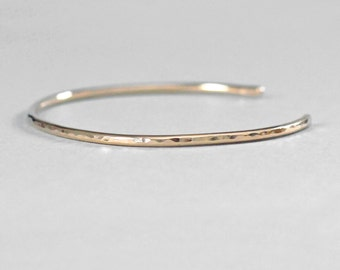 14K Gold Bracelet Cuff, Solid 14K Gold Bracelet for Women, 14K Gold Cuff Bracelet, Solid Gold Bracelet, Thin Gold Cuff, Ready to Ship