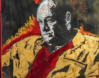 Tony Soprano Art by Matt Pecson \ 24x24 \ The Sopranos Art \ James Gandolfini \ Reclaimed Wood Art \ Oil Painting \ Pop Art Painting