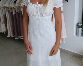 White maxi cotton dress