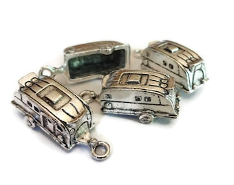 4 Camper Trailer Camping RV (3D) Charms 27x8mm