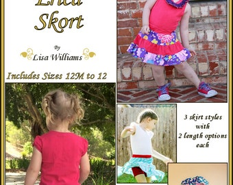 INSTANT DOWNLOAD: Erica Skort - diy Tutorial pdf eBook Pattern - Sizes 12M - 12