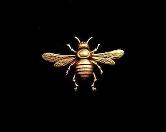 Busy Bee Brooch - Gold