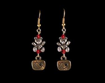 Love Bear Dangle Earrings