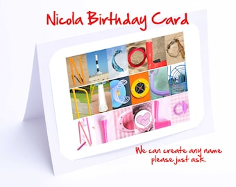 Nicola Personalised Birthday Card