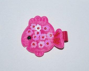 Hot Pink Goldfish No Slip Hair Clip - Buy 3 Items, Get 1 Free
