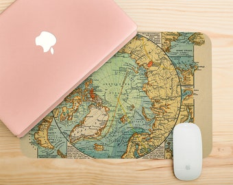 World map mousepad etsy world map print mouse pad vintage earth mouse pad old atlas laptop decal vintage mousepad co gumiabroncs Images