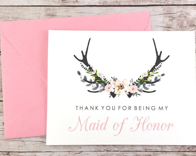 Thank You For Being My Maid of Honor Card (FPS0024)