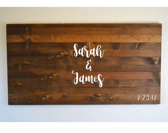 Rustic Guestbook, Rustic Guest book, Wooden Guestbook, Rustic Wedding, Guest Book Alternative, Guestbook Alternative, Personalized Sign