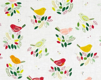 Blossoms  Hello Birdie  Small Dear Stella Designs  By the Yard