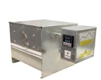 Bead-door programmable kiln for lampwork, glass fusing, annealing enamelling