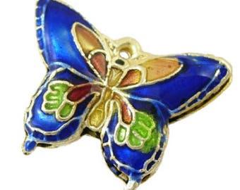 2pc 19x15mm handmade butterfly Cloisonne Beads-bb96