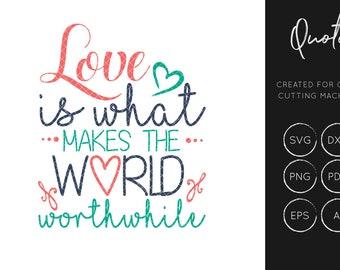 Love SVG Cut File, Love SVG, Quote svg, silhouette cameo, cricut explore, instant download, svg cut files, dxf cut files, commercial use