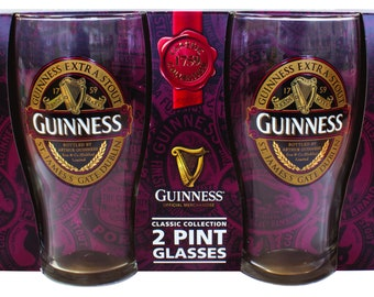 Guinness Red Collector Brewery Pint Glass Candle Set!