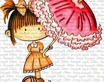 Lucy In The Rain Digital Stamp by Sasayaki Glitter