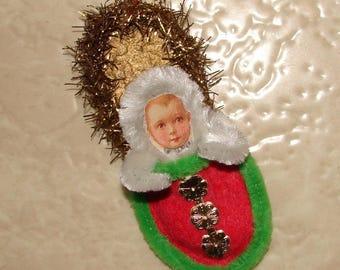 Snow Baby Slipper Christmas Ornament