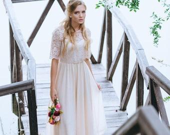 Blush wedding dress etsy blush wedding gowns blush pink gown blush gown blush colored wedding dress junglespirit Choice Image