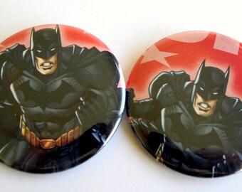 10  Upcycled Batman Buttons - Batman Party Favors - Batman Birthday Party -  Batman Guest Favors - Batman Party Buttons