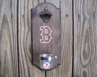 Boston Red Sox Rustic Wall-Mount Bottle Opener