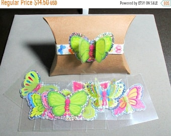 ON SALE 3D Mylar Butterfly Stickers 72 pieces
