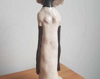 Handmade Ceramic Imagery (23.5 cm height) 'Slanke Nelie'
