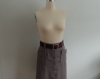 1970's Belted Skirt