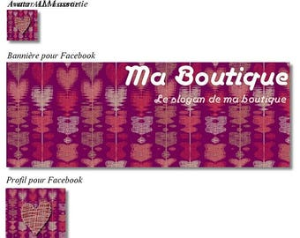 """Banner and avatar """"Heart"""" for shop and Facebook"""