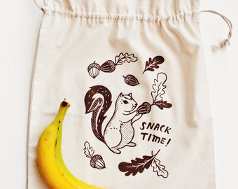Reusable LUNCH BAG / reusable snack bag, lunch bag for kids lunch bag kids, drawstring bag, lunch tote bag, lunchbag, eco friendly gifts