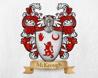 McKeough Family Crest - Print
