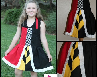 ADULT SIZED Queen of Hearts Alice in wonderland Tea party princes apron dress up