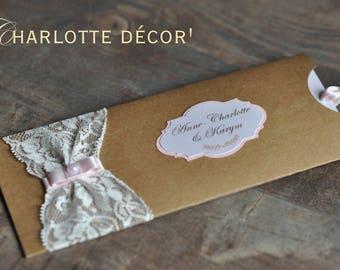 Custom ornament lace invitation