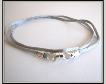 12 to 24 inch Silver Necklace Cord, Magnetic Clasp, Silver Choker, Pendant Cord, Jewelry Cord, Charm Cord, Bridesmaid Cord, Custom Cord, USA