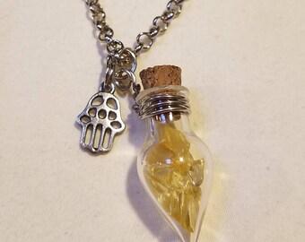 Mini Bottle Crystal Necklace