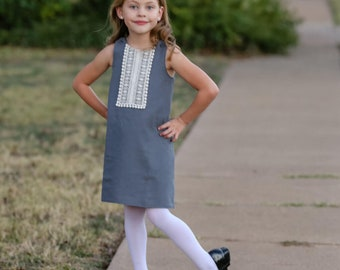 A-Line Dress Pattern for Girls - Reversible Aline Dress Sewing pattern