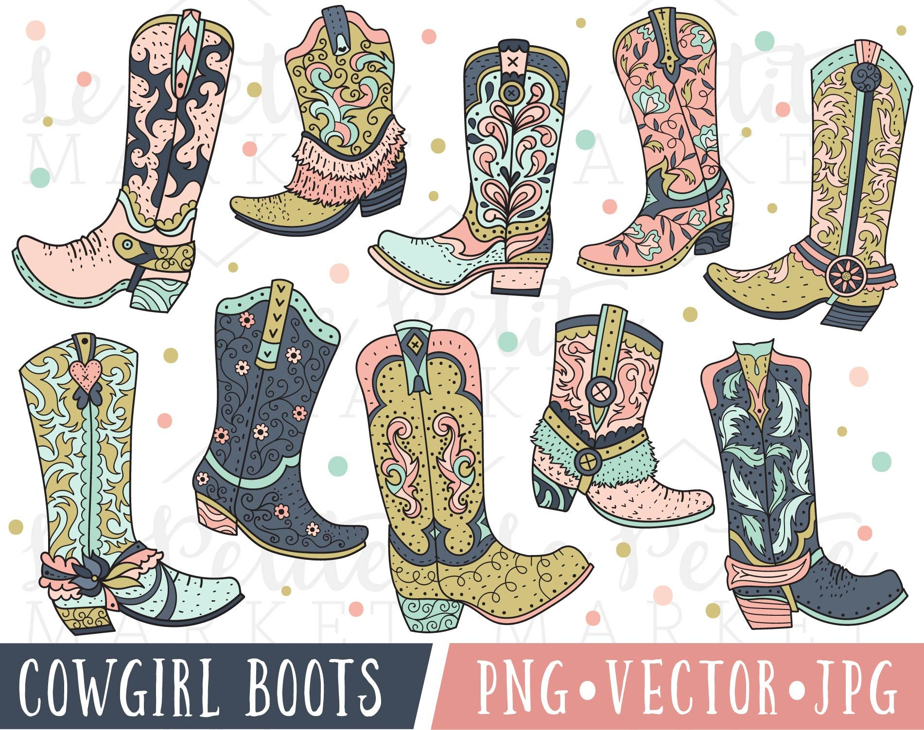 Rosa Cowgirl Stiefel Clipart Cowboystiefel Clipart ClipArt