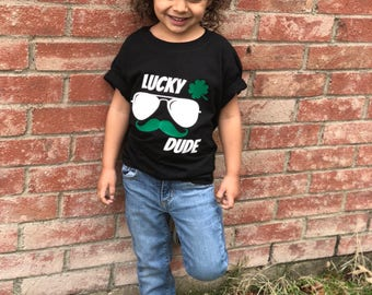 Luck Dude cool kid Tee for boys