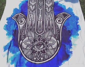 Laser print 'Hamsa' Tapestry