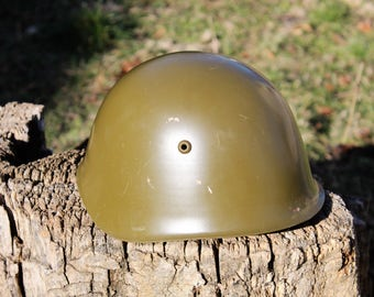 Military Helmet - Bulgarian Army Helmet - Vintage Steel Helmet - Post World War II Helmet - Cold War Helmet - Fathers Day Gift