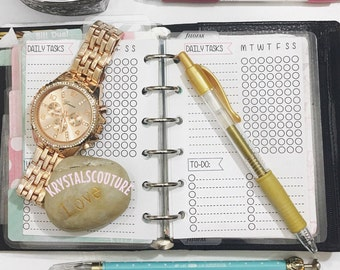 Habit Tracker! With a todo or weekly section! pocket planner inserts UNPUNCHED