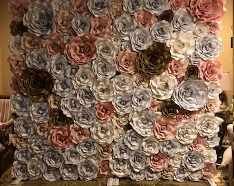 8x8 Paper Flower Wall