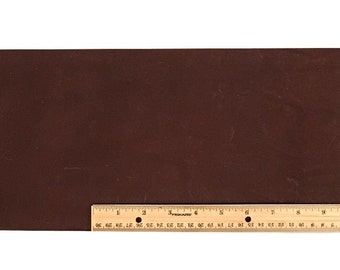 Scrap LACE LEATHER Dark Brown Cowhide 18 x 7 inches