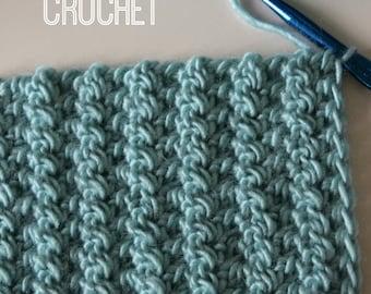 Download Now - CROCHET PATTERN Half Triple Crochet Blanket or Scarf - Any Size - Pattern PDF