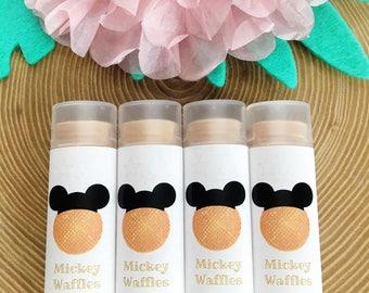MICKEY WAFFLES Flavored Lip Balm, Disney Lip Balm, Disney Waffles, Mickey Lip Balm