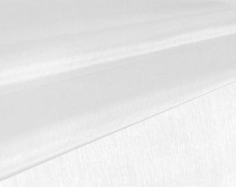 Diamond White Organza Fabric by the Yard, Wedding Decoration Organza Fabric, Sheer Fabric - Style 1901