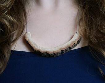 SALE Branch Necklace // Oak, wood, statement, unique, reuse, recycle